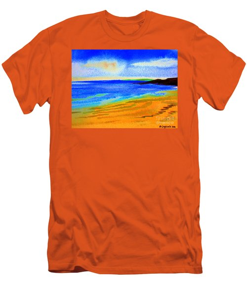 2 Australian Beach In The Morning Near Cottesloe Men's T-Shirt (Slim Fit) by Roberto Gagliardi