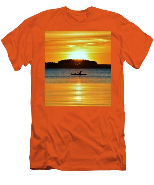 A Reason To Kayak - Summer Sunset Men's T-Shirt (Athletic Fit)