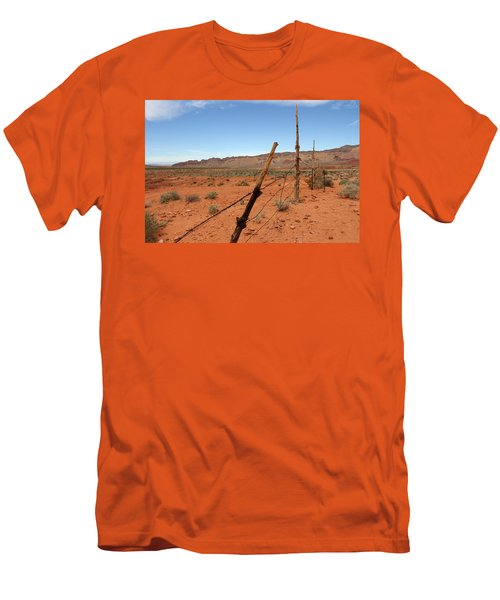 Men's T-Shirt (Slim Fit) featuring the photograph  Don't Fence Me In by Tammy Espino