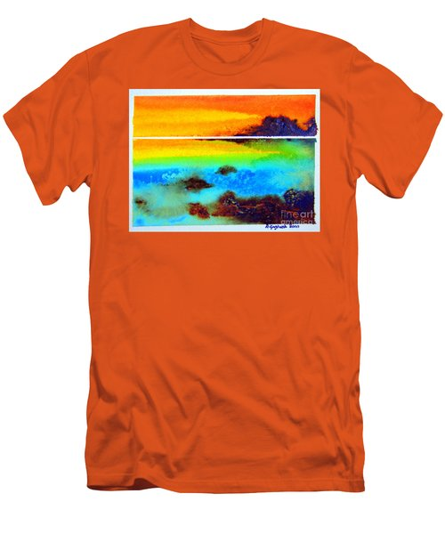 Western Australia Ocean Sunset Men's T-Shirt (Slim Fit) by Roberto Gagliardi