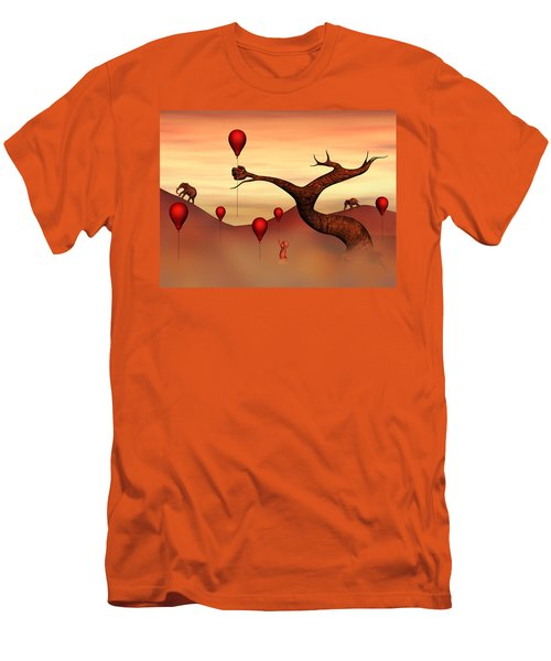 Believe What You See Men's T-Shirt (Slim Fit) by Gabiw Art