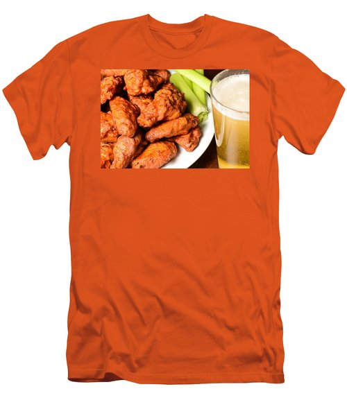 Buffalo Wings With Celery Sticks And Beer Men's T-Shirt (Athletic Fit)
