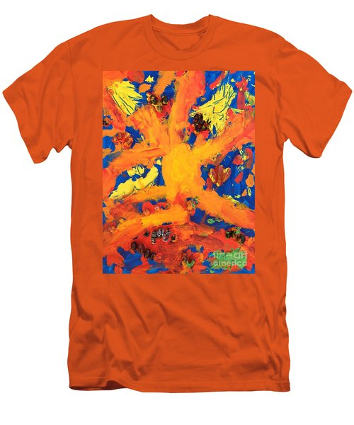 Men's T-Shirt (Slim Fit) featuring the mixed media Impact by Donald J Ryker III