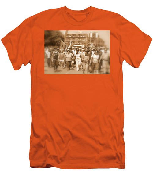 Labor Day Parade Men's T-Shirt (Slim Fit) by Valentino Visentini
