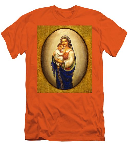 Madonna In A Halo Men's T-Shirt (Slim Fit) by Ananda Vdovic