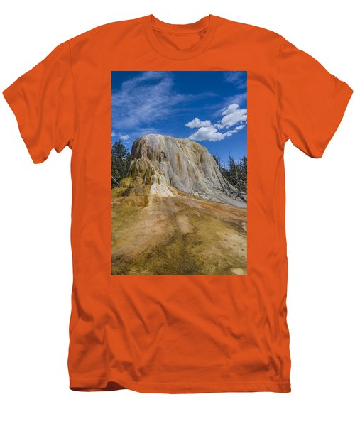 Orange Spring Mound Yellowstone National Park Men's T-Shirt (Athletic Fit)