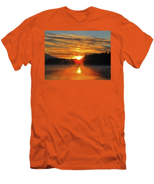 Men's T-Shirt (Slim Fit) featuring the photograph American Lake Sunrise by Tikvah's Hope