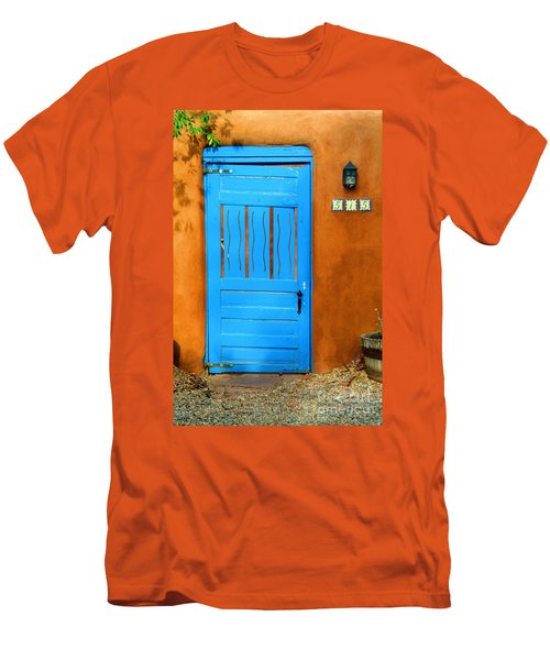 Blue Door In Santa Fe Men's T-Shirt (Athletic Fit)