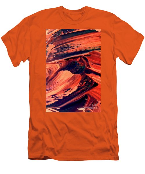 Men's T-Shirt (Slim Fit) featuring the painting Catalyst by Jacqueline McReynolds
