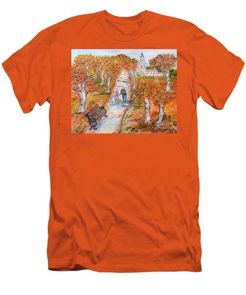 L'autunno Della Vita Men's T-Shirt (Slim Fit) by Loredana Messina