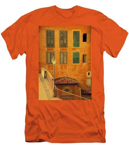 Medieval Windows Men's T-Shirt (Slim Fit) by Caroline Stella