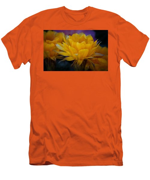Orange Cactus Flowers  Men's T-Shirt (Athletic Fit)