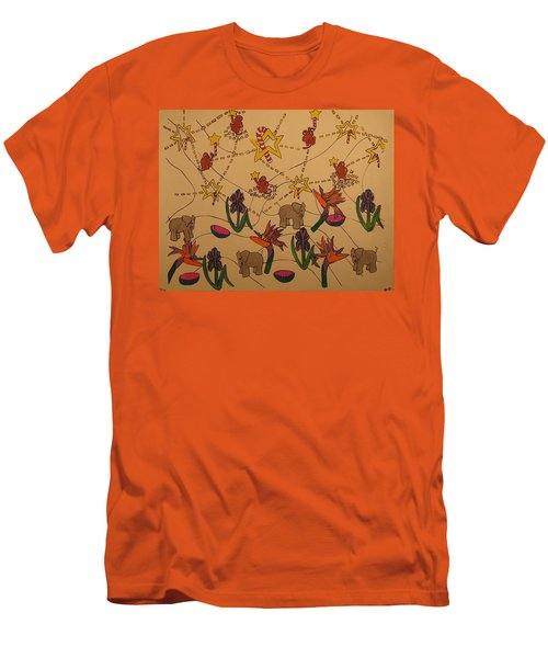 Almost Paradise Men's T-Shirt (Slim Fit) by Erika Chamberlin