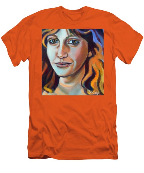 Men's T-Shirt (Slim Fit) featuring the painting Self Portrait  by Helena Wierzbicki