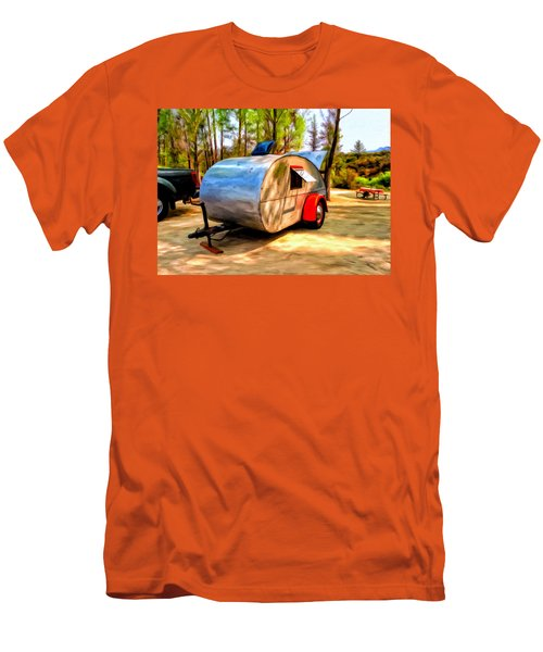Men's T-Shirt (Slim Fit) featuring the painting 47 Teardrop by Michael Pickett