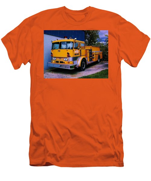 Men's T-Shirt (Slim Fit) featuring the photograph 710 ....... Fire Dept. by Daniel Thompson