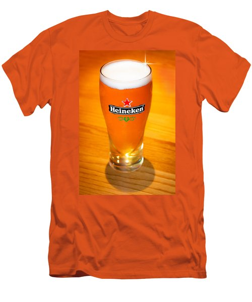 A Cold Refreshing Pint Of Heineken Lager Men's T-Shirt (Slim Fit) by Semmick Photo
