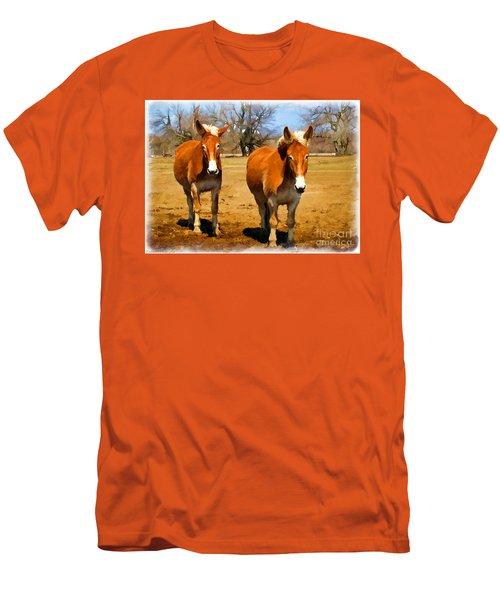 A Pair Of Mules  Digital Paint Men's T-Shirt (Athletic Fit)