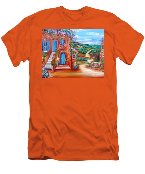 A Sunny Day In Chianti Tuscany Men's T-Shirt (Slim Fit) by Roberto Gagliardi