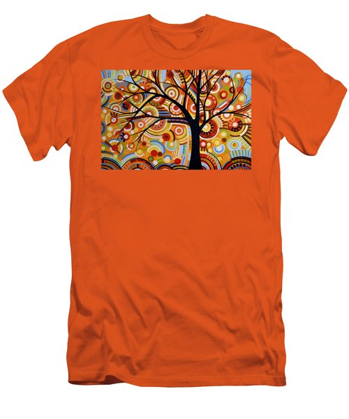 Abstract Modern Tree Landscape Thoughts Of Autumn By Amy Giacomelli Men's T-Shirt (Slim Fit) by Amy Giacomelli