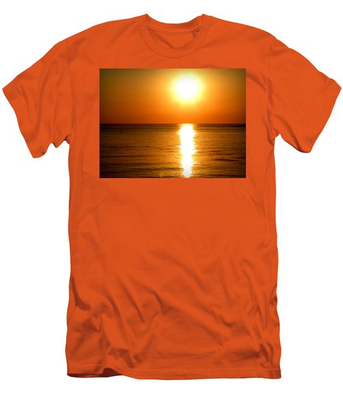Men's T-Shirt (Slim Fit) featuring the photograph Aegean Sunset by Micki Findlay