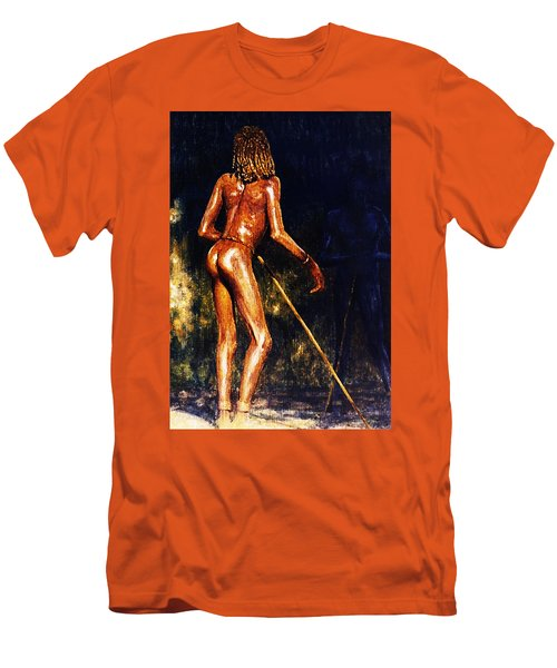 African Lady Men's T-Shirt (Slim Fit) by Hartmut Jager