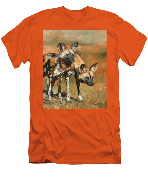 African Wild Dogs Men's T-Shirt (Slim Fit)