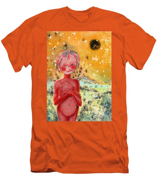 Men's T-Shirt (Slim Fit) featuring the painting Alien by Carol Jacobs
