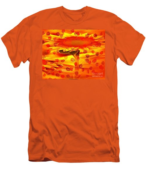 Always Turn Your Head Towards The Sun Men's T-Shirt (Slim Fit)
