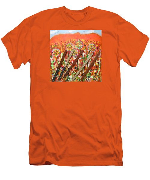 American Mornin' Flower Garden Men's T-Shirt (Athletic Fit)