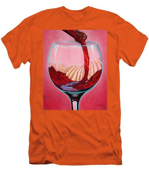 ...and Let There Be Wine Men's T-Shirt (Slim Fit) by Sandi Whetzel