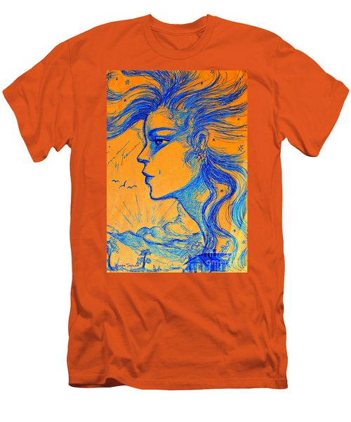 Anima Sunset Men's T-Shirt (Slim Fit) by Leanne Seymour
