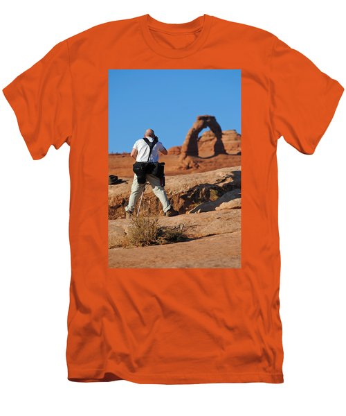 Men's T-Shirt (Slim Fit) featuring the photograph Arches Np 27 by Jeff Brunton