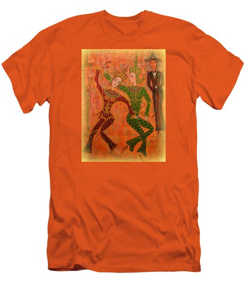 Asian Dancers Men's T-Shirt (Slim Fit) by Marie Schwarzer