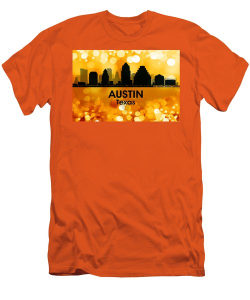 Austin Tx 3 Men's T-Shirt (Slim Fit) by Angelina Vick