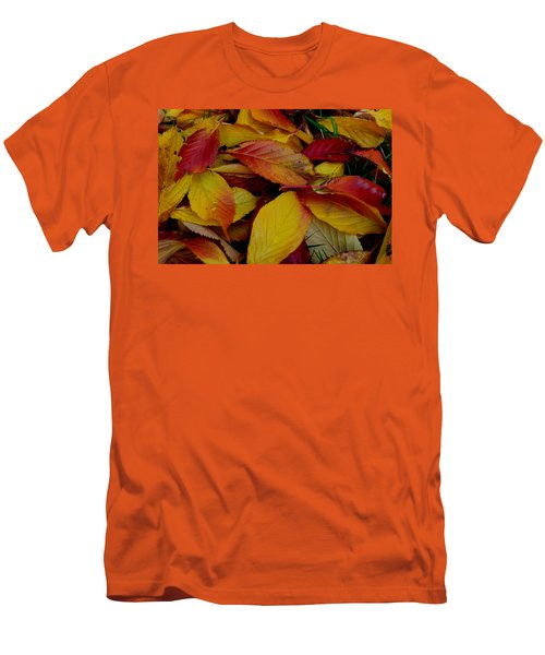 Men's T-Shirt (Slim Fit) featuring the photograph Autum by Barbara Walsh