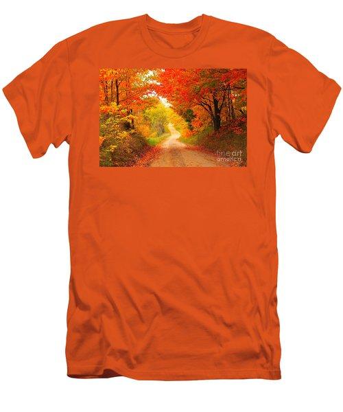 Autumn Cameo 2 Men's T-Shirt (Slim Fit) by Terri Gostola