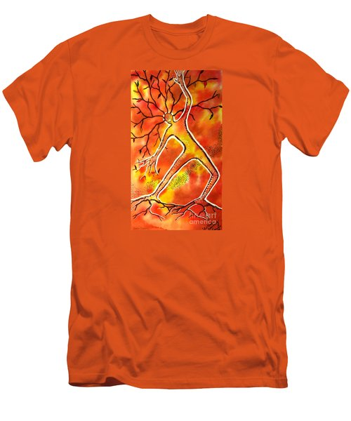 Autumn Dancing Men's T-Shirt (Slim Fit) by Leanne Seymour