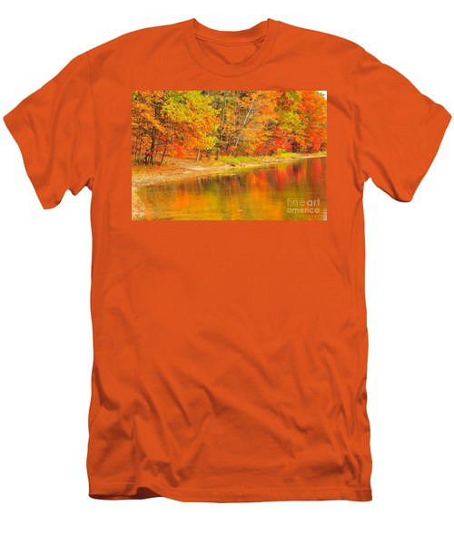 Men's T-Shirt (Slim Fit) featuring the photograph Fire Balls by Terri Gostola