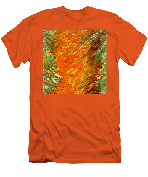 Men's T-Shirt (Slim Fit) featuring the painting Autumn Wind by Joan Reese