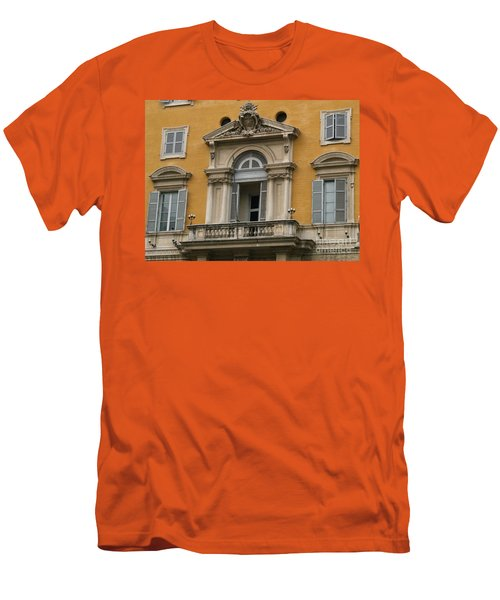 Men's T-Shirt (Slim Fit) featuring the photograph Awaiting The Pope by Robin Maria Pedrero