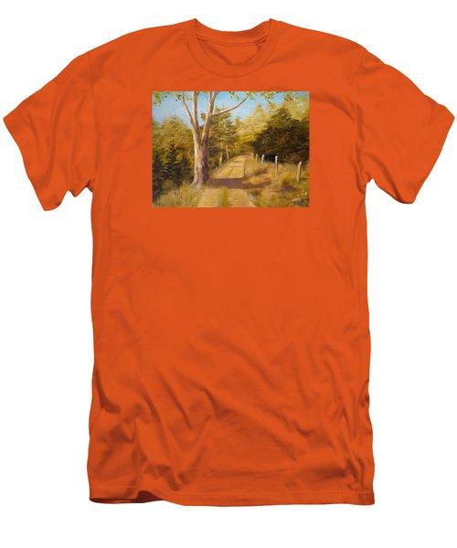 Back Road Men's T-Shirt (Slim Fit) by Alan Lakin