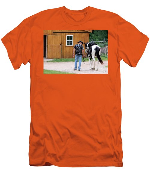 Back To The Barn Men's T-Shirt (Athletic Fit)