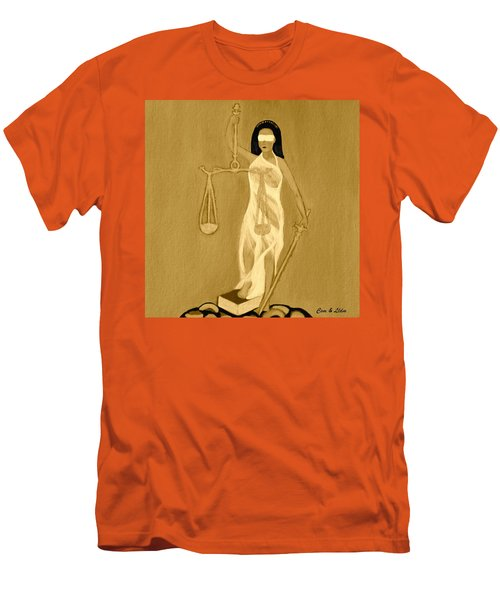 Men's T-Shirt (Slim Fit) featuring the painting Balance 3 by Lorna Maza