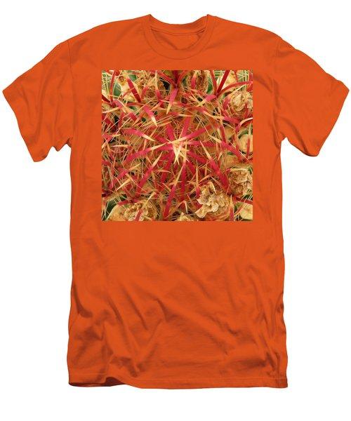 Men's T-Shirt (Slim Fit) featuring the photograph Barrel Cactus by Laurel Powell