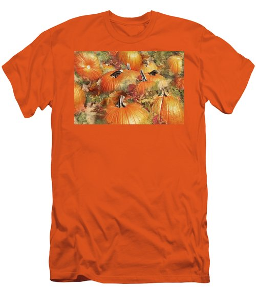 Bask In The Pumpkin Patch  Men's T-Shirt (Athletic Fit)