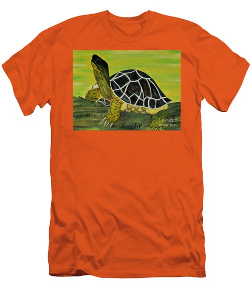 Black Turtle. Inspirations Collection. Men's T-Shirt (Slim Fit) by Oksana Semenchenko