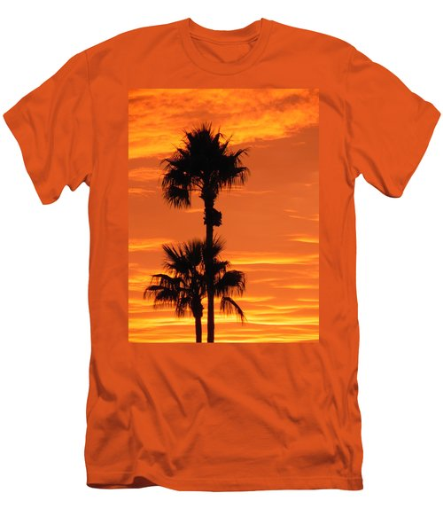 Men's T-Shirt (Slim Fit) featuring the photograph Blazing Sunset by Deb Halloran