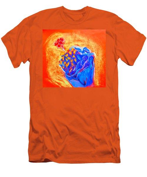 Blue Hibiscus Men's T-Shirt (Athletic Fit)