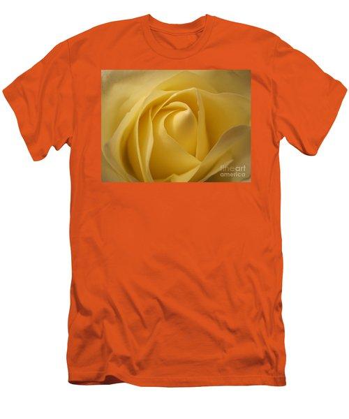 Blushing Cream Rose  Men's T-Shirt (Athletic Fit)